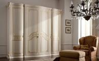 Шкаф с позолотой цвет белый стиль классический Bangkok
