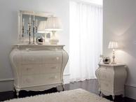 Комод с зеркалом в белом цвете классического стиля Varsavia