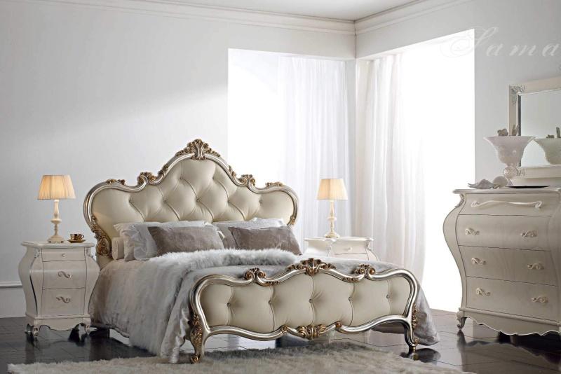 Спальная кровать в обивке - капитоне Armadi