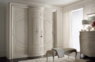 Белый спальный шкаф для хранения одежды Armadi