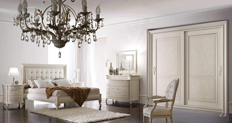Мебель для спальни в белом цвете Camere