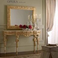 Консоль с зеркалом декорированый резьбой Prestige