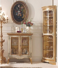 Угловой сервант и комод со стеклянными дверцами классика Giorno