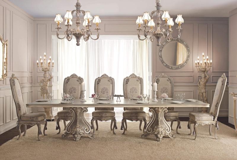 Итальянская столовая в классическом стиле с ручной резьбой Giorno