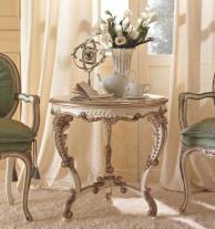 Круглый столик на резных ножках  белого цвета Giorno Andrea Fanfani