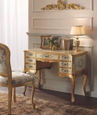 Письменный стол - цвет слоновая кость с росписью и позолотой Giorno