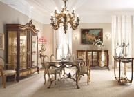 Шикарная столовая мебель с орнаментом   стиль - классический Giorno Andrea Fanfani