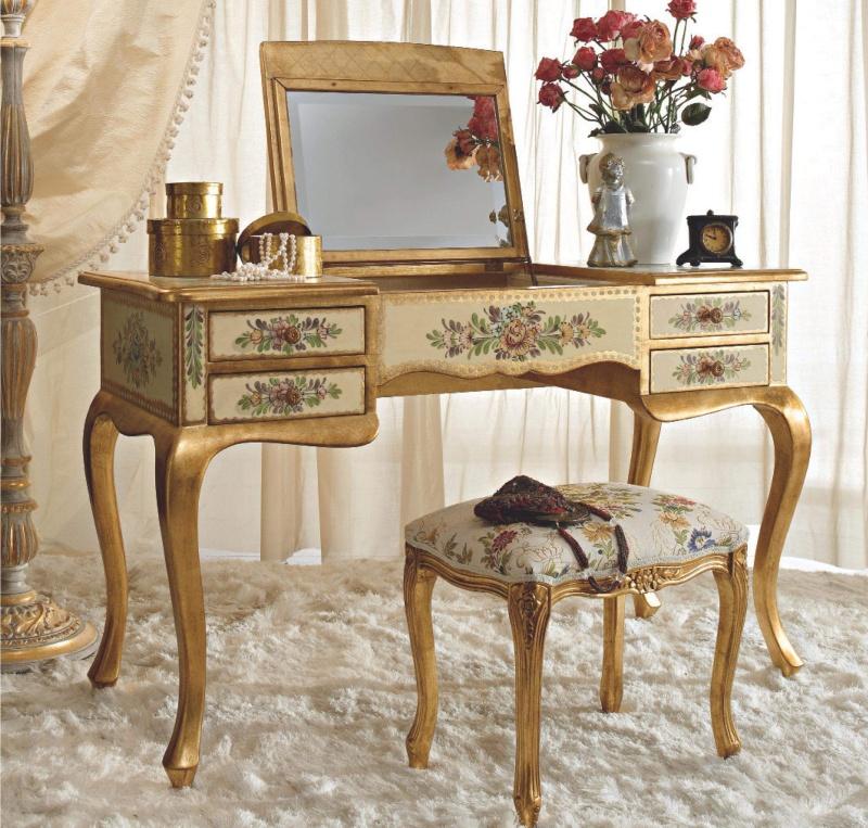 Туалетный столик с откидной крышкой и зеркалом Notte
