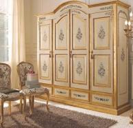 Большой платяной шкаф с цветочным орнаментом Notte