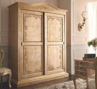 Двухдверный шкаф-купе отделка золото с патиной Notte