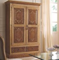 Платяной шкаф с патиной и росписью Notte