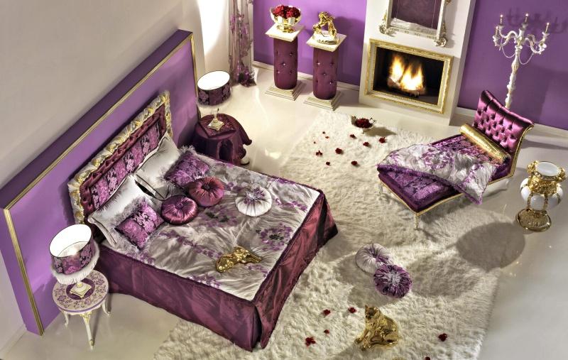 Antico Borgo Extreme - спальня фиолетовая