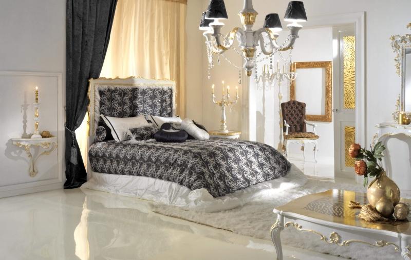 Кровать двухспальная с высоким изголовем стиля арт - деко Antico Borgo
