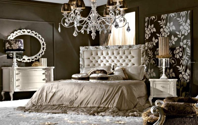 Спальная кровать - обика белая классического стиля Antico Borgo Living
