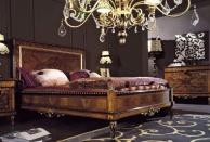 Antico Borgo Neoclassico Gold - кровать неоклассика с росписью