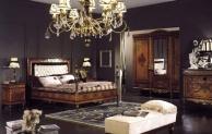 Кровать с высоким подголовником в обивке капитоне Antico Borgo Neoclassico Gold