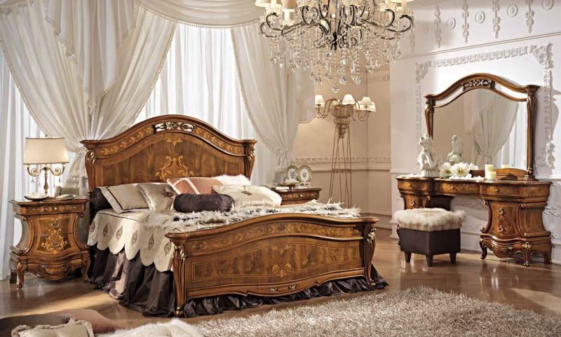 Гарнитур для спальной комнаты цвета орех Antonelli Moravio AM