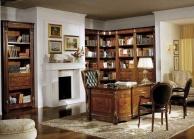 Кабинетный стол с тремя стульями в чёрной обивке Antonelli Moravio AM