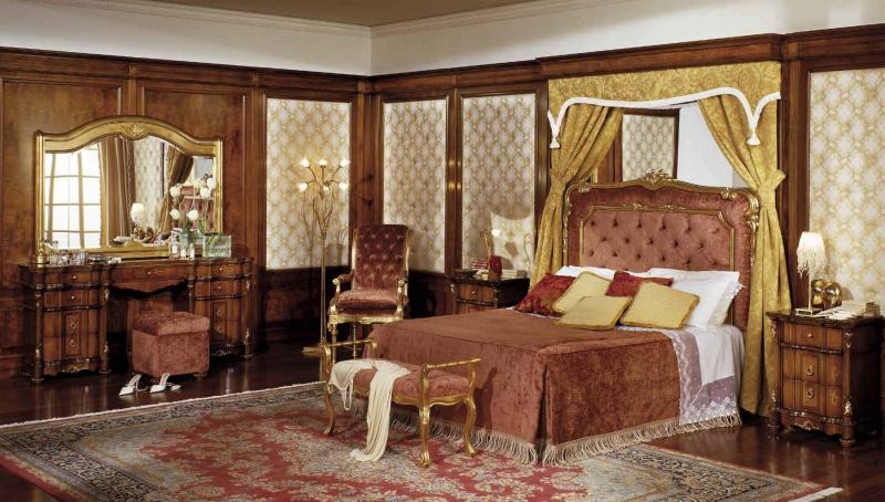 Комплект мебели для спальной с резным декором и позолотой Antonelli Moravio AM
