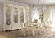 Столовая в белом цвете с резьбой ручной работы и золотом Antonelli Moravio AM