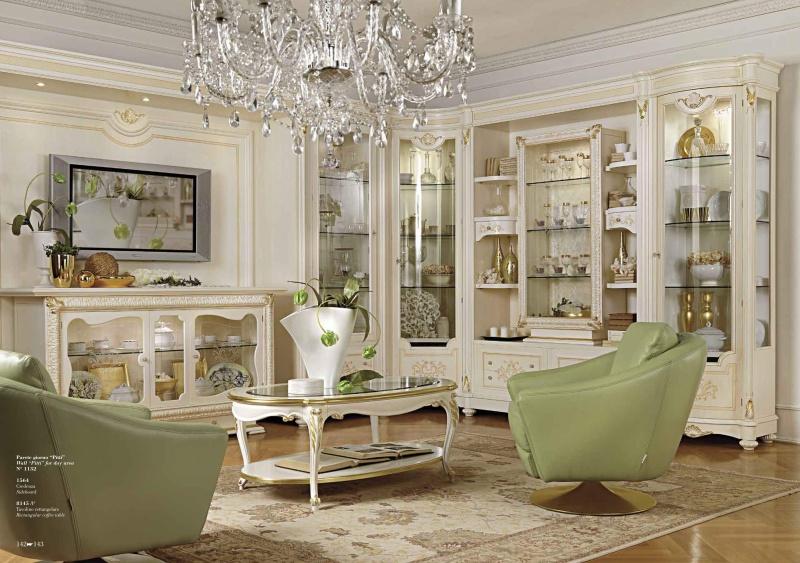 Гостиная с резным декором - цвет белый Antonelli Moravio AM