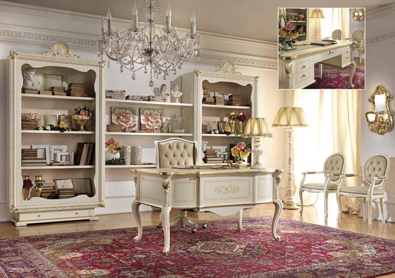 Итальянский кабинет - цвет слоновая кость с золочением Antonelli Moravio AM