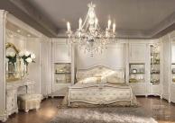 Двухспальная кровать в обивке капитоне Antonelli Moravio AM