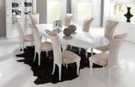 Белый стол и стулья для столовой комнаты Stardust
