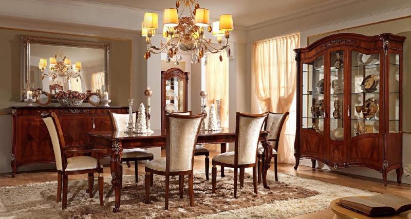 Итальянская мебель в столовую - цвет орех - Prestige Barnini Oseo