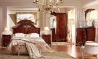 Гарнитур для спальни с инкрустацией орехового цвета Prestige  Barnini Oseo