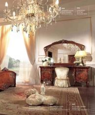 Туалетный столик с зеркалом и креслом цвета орех Reggenza