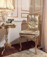 Позолоченый стол и стул с двумя подушками Reggenza