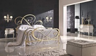 Двухспальная кровать с элементами ковки Notte