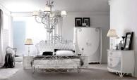 Спальная кровать с подголовьем из кожы капитоне и элементами ковки Proposal  16
