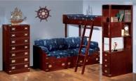 Гарнитур для детской комнаты два яруса - красное дерево Vecchia Marina  Caroti