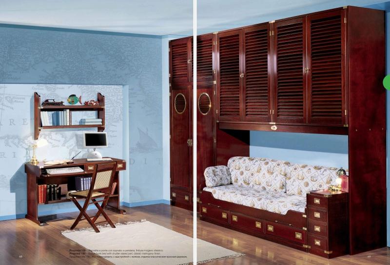 Гарнитур для детской комнаты из красного дерева Vecchia Marina  Caroti