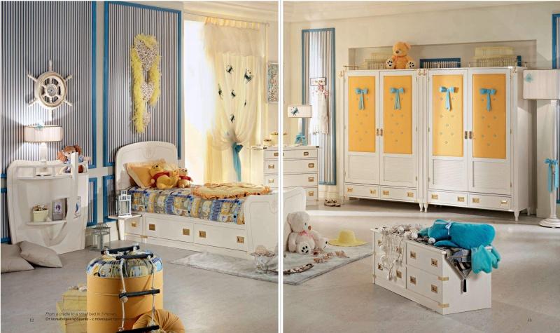 Детский комплект мебели - белого цвета в мосрском стиле Vecchia Marina  Caroti