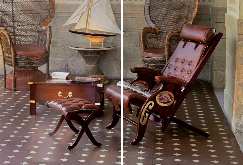 Кресло из красного дерева - морской стиль -  Vecchia Marina  Caroti