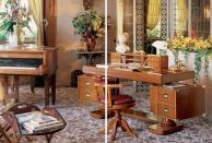 Деревяный письменный стол - мороской стиль - цвет орех Vecchia Marina  Caroti