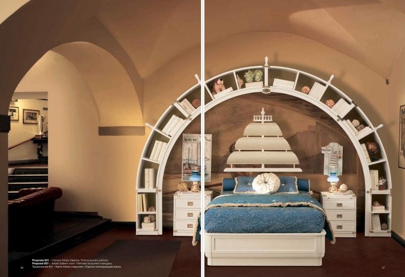 Набор мебели для детской в морском стиле белого цвета Vecchia Marina  Caroti