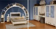 Комплект мебели для спальной комнаты с эфектом патинирования Vecchia Marina  Caroti