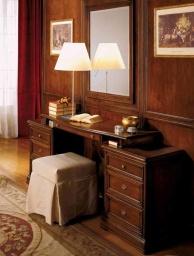 Консольный столик с мягким пуфом и прямоугольным зеркалом Armadi 2010
