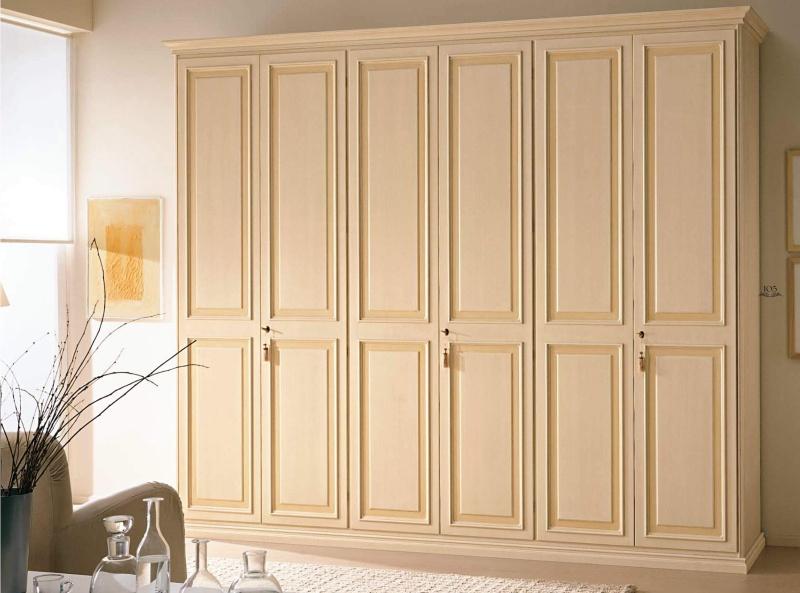 Шкаф в спальню - цвета слоновая кость Aurora