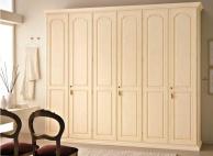 Бежевый платяной  шкаф в классическом стиле  Aurora