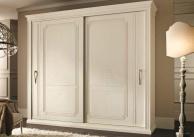 Шкаф купе - классический с серебристым орнаментом Anta Scorrevole