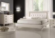 Двухместная кровать с мягким изголовьем в обивке капитоне Тоday Ferretti