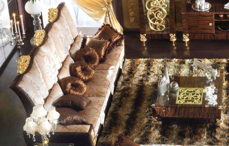 Гостиная мебель из Италии цвета зебрано Blue Diamond Lanpas