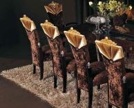 Стулья в коричневой обивке с золотым декором Blue Diamond  Lanpas