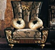 Кресло с резными накладками в стиле арт - деко Blue Diamond  Lanpas