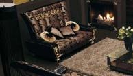 Гостиный 2-х местный диван  - цвет - коричневый Blue Diamond  Lanpas